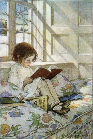 kids reading books art