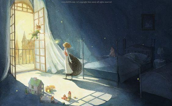 Воздушные иллюстрации любимых книг от Kim Minji