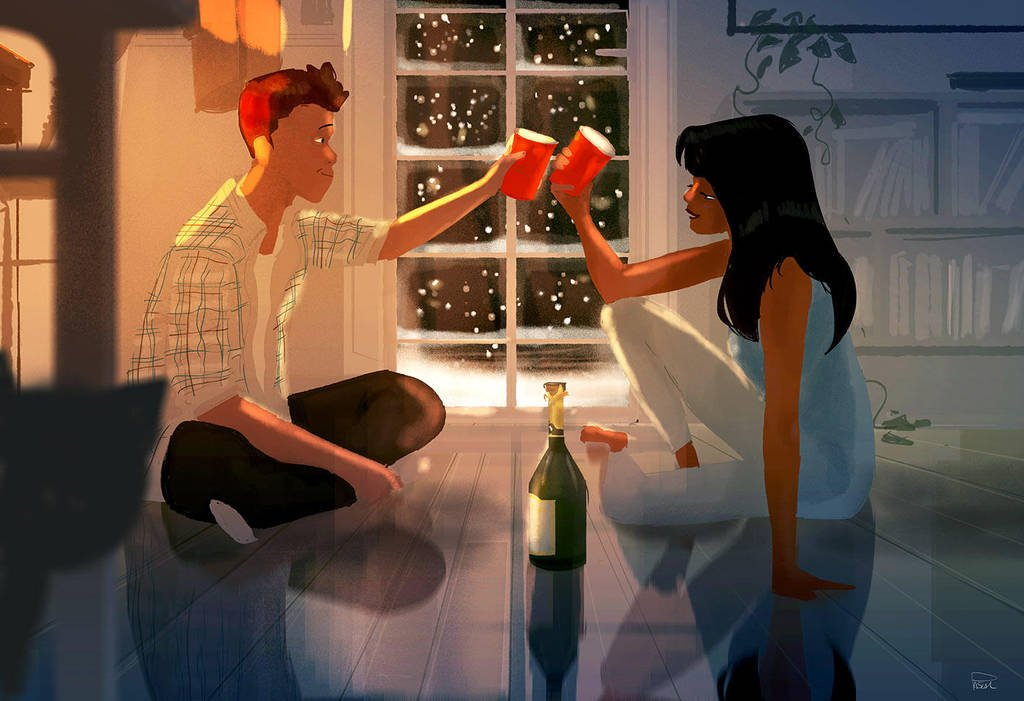 love poems illustration pascal campion