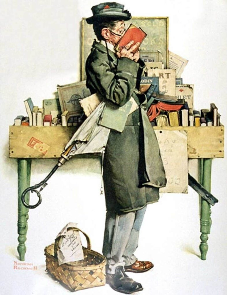norman rockwell books and reading