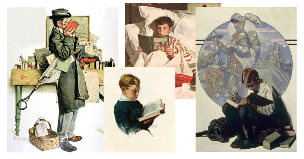 BookArt: Readers on the Paintings by Norman Rockwell